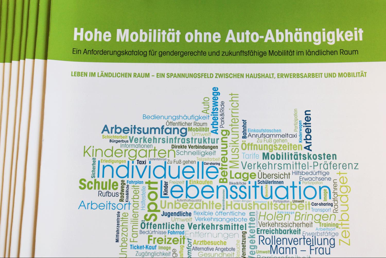 """Anforderungskatalog – """"Hohe Mobilität ohne Auto-Abhängigkeit"""""""